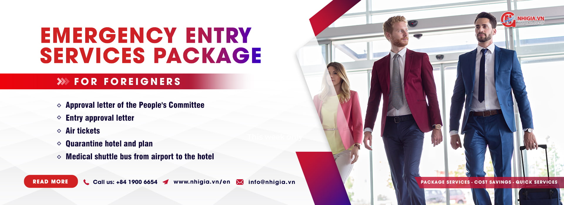 Entry services package for foreigners entering Vietnam