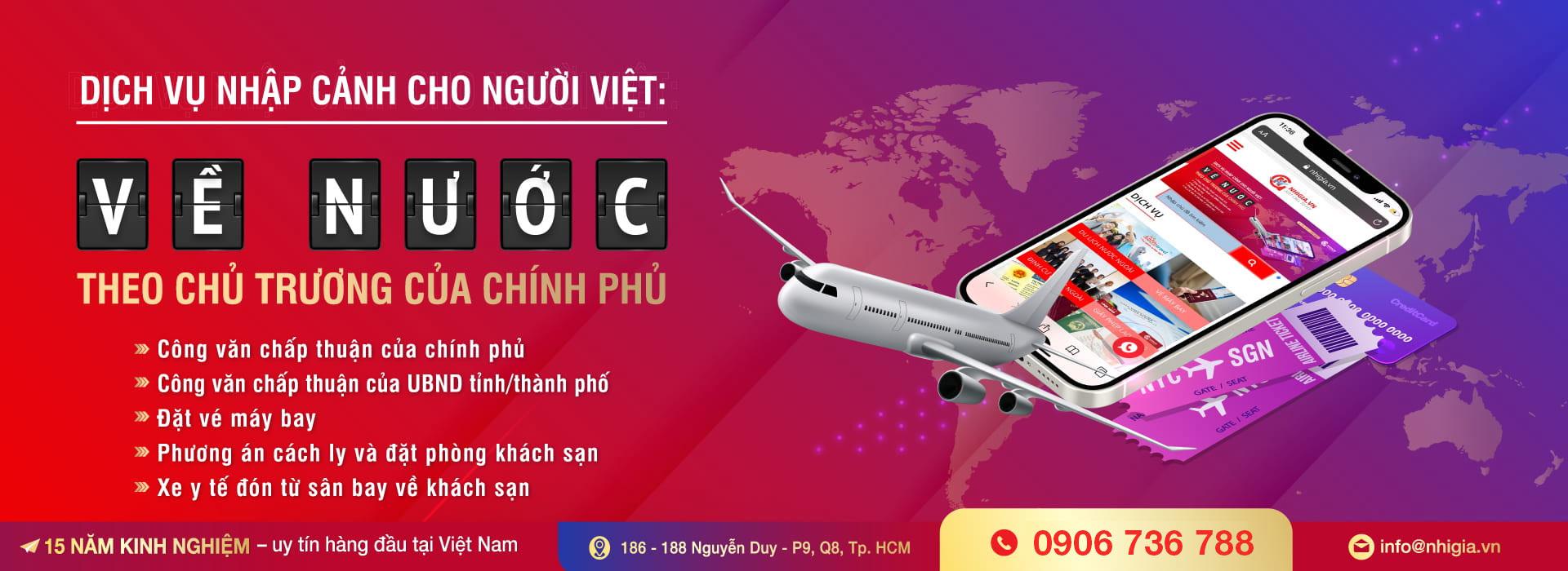 Dịch vụ nhập cảnh cho người Việt Nam trọn gói